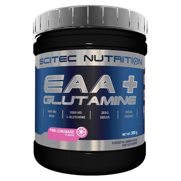 Scitec Nutrition Eaa+ Glutamine | 300g | Pink Lemonade | Intra Workout | BCAA & Essential Amino Acids | 4000mg Of BCAAs