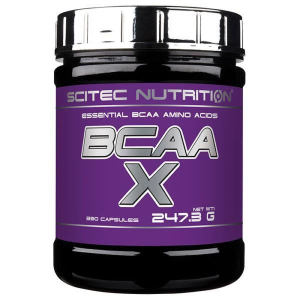 Scitec Nutrition Scitec BCAA-X | 330 Caps | Enhance Muscle Protein Synthesis | Essential Amino Acids That Must Be Provided Via Your Diet