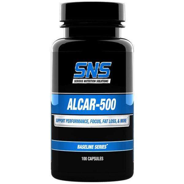 Serious Nutrition Solutions Alcar-500 | 100 Capsules | L-carnitine Supplements | Potent Nootropic Which Enhances Focus & Concentration