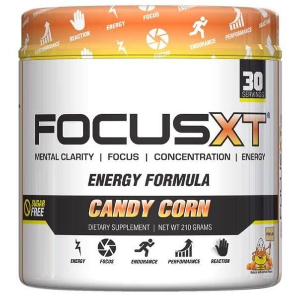 Serious Nutrition Solutions Focus XT | 30 Servings | Candy Corn | Pre-Workout Supplements | Improved Mental Focus & Clarity