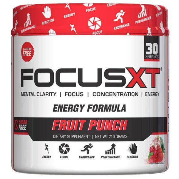 Serious Nutrition Solutions Focus XT | 30 Servings | Fruit Punch | Nootropic | Caffeine-Free | Pre-Workout Supplements | Improved Mental Focus