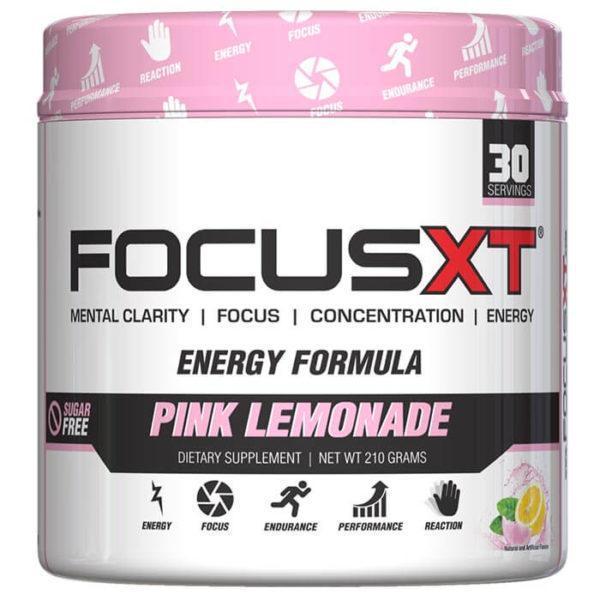 Serious Nutrition Solutions Focus XT | 30 Servings | Pink Lemonade | Pre-Workout Supplements | Improved Mental Focus & Clarity