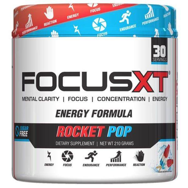 Serious Nutrition Solutions Focus XT | 30 Servings | Rocket Pop | Pre-Workout Supplements | Improved Mental Focus & Clarity