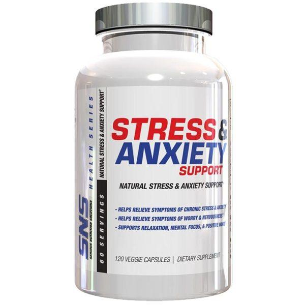 Serious Nutrition Solutions Sns Stress & Anxiety | 60 Vcaps | Adaptogen | Nootropic Supplements & Boost Mental Performance | Helps Relieve Symptoms