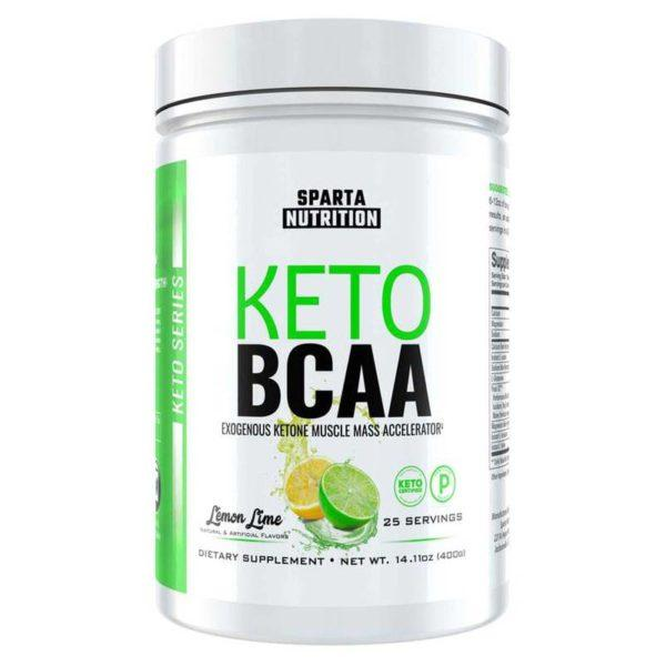 Sparta Nutrition Keto BCAA | 25 Servings | Lemon Lime | BCAA & Essential Amino Acids | The Ultimate BCAA Supplement For Keotgenic Dieters