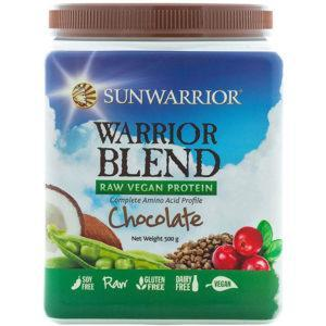 Sunwarrior Warrior Blend Raw Vegan Protein 500g Tub