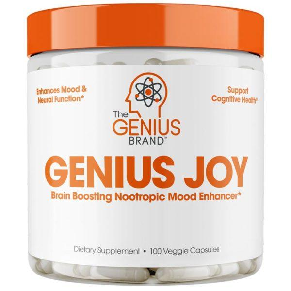 The Genius Brand Genius Brand UK Genius Joy | 100 Caps | Nootropic | Shakers Bottles & Mixers | Clinically Dosed Ingredients