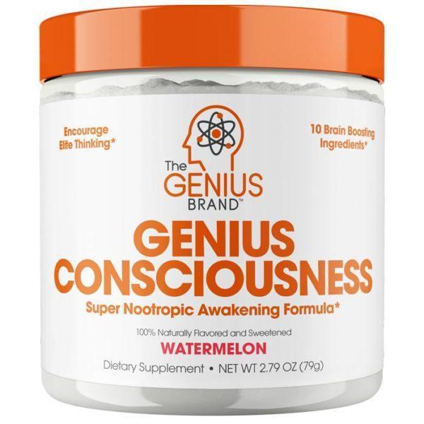 The Genius Brand Genius Consciousness | 30 Servings | Watermelon | Genius Brand | Enhance Cognitive Function, Improve Productivity | Nootropic