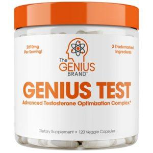 The Genius Brand Genius Test T Booster In U.k | 120 Capsules | T Boosters | Stacked With Patented Ingredients