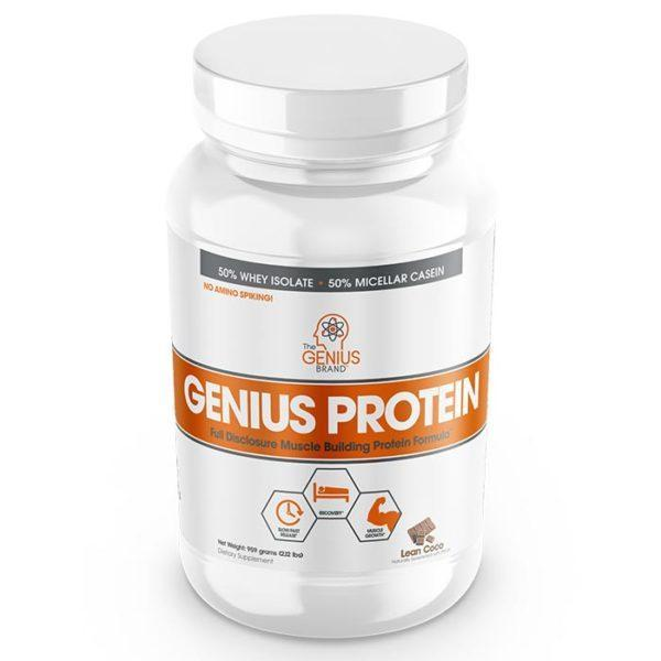 The Genius Brand UK | 30 Servings | Lean Coco | Genius Protein | Protein Powder | Ultra-Premium Blend Of The Best Forms Of Whey & Casein