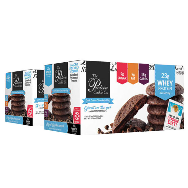 The Protein Cookie Company | 12 Cookies | Classic Chocolate Chip | Protein Snack | Protein Bars | Over 20g Protein Per Serving