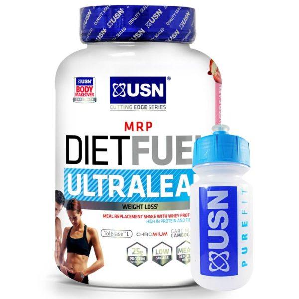 USN Diet Fuel Ultralean | 1000g | Chocolate | Diet Protein Powder | Diet Focused Meal Replacement