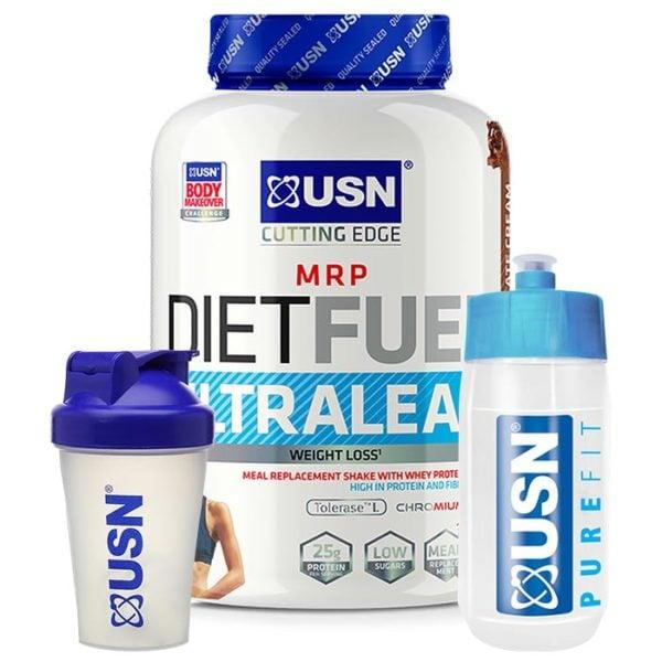 USN Diet Fuel Ultralean | 2000g | Vanilla | Diet Protein Powder | Diet Focused Meal Replacement