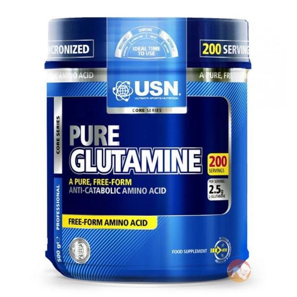 USN Pure Glutamine | 625g | Unflavoured | Glutamine Supplements | Prevents Muscle Breakdown