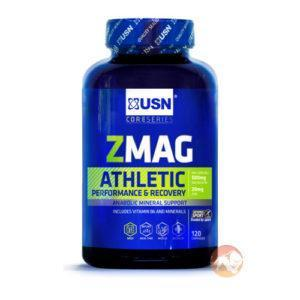 USN Zmag Athletic | 120 Capsules | Vitamins & Mineral Supplements | Zmag Athletic Combats The Widespread Deficiencies In Athletes Of Zinc & Magnesium