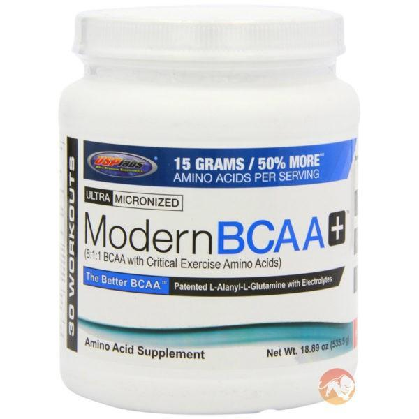 USP Labs Modern BCAA+ | 30 Servings | Watermelon | BCAA & Essential Amino Acids | 8:1:1 BCAA Supplement