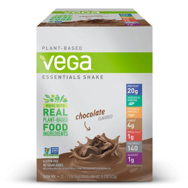 Vega Essentials Shake | 12 Sachets | Vanilla | Protein Powder | Vegan Protein Powder | Packed Full Of 16 Essential Vitmains & Minerals