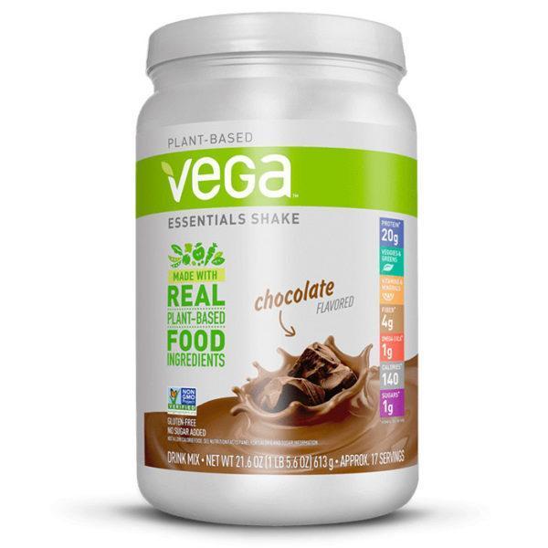 Vega Essentials Shake | 613g | Chocolate | Protein Powder | Vegan Protein Powder | Packed Full Of 16 Essential Vitmains & Minerals