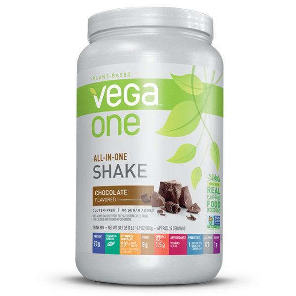 Vega One Vegan Protein Powder | 461g | Chocolate | No Soy, Gluten Or Dairy | Made from Plant Based Proteins