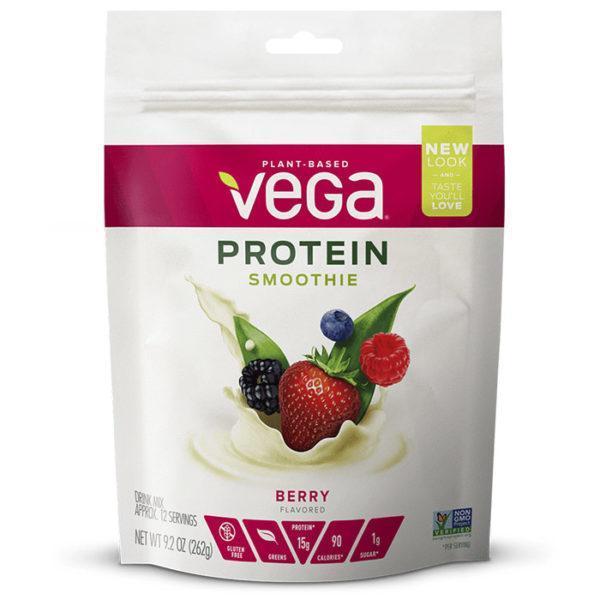 Vega Protein Smoothie | 12 Servings | Vanilla | Vegan Based Protein Smoothie | Vegan Protein Powder | Single Servings Of A Convenient Protein Powder