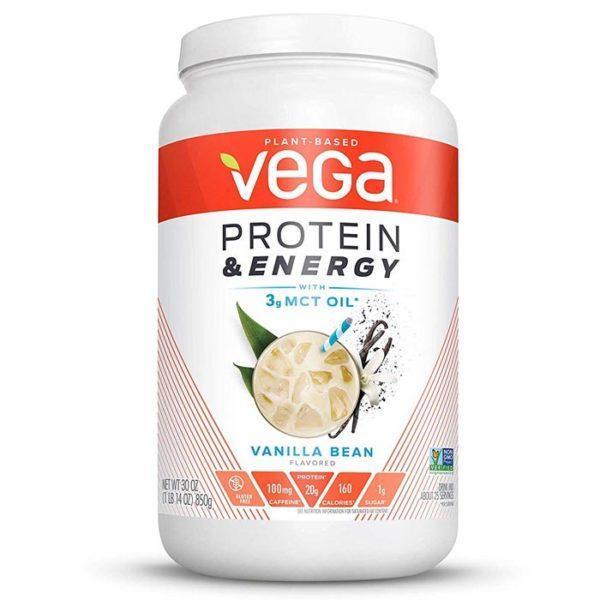 Vega Protein & Energy | 510g | Vanilla Bean | Vegan Protein Powder | 20g Of Vegan Protein Per Serving