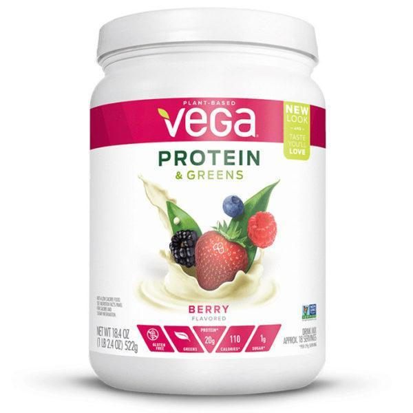 Vega Protein & Greens | Berry | Protein Powder With Added Greens | Vegan Protein Powder | Vegan Formula Protein Powder With Added Greens