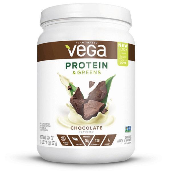 Vega Protein & Greens | Chocolate | Protein Powder With Added Greens | Vegan Protein Powder | Vegan Formula Protein Powder With Added Greens