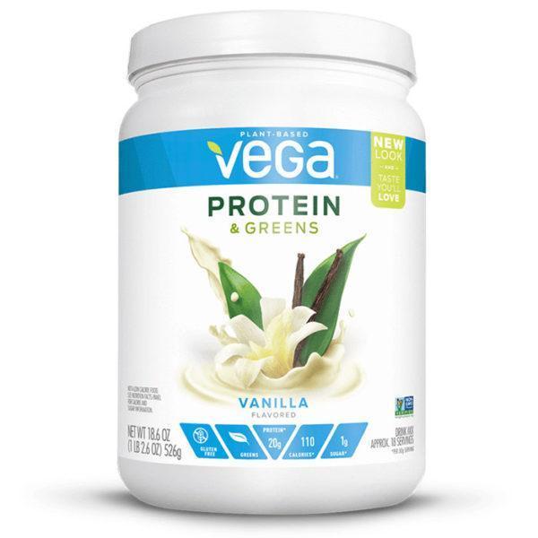 Vega Protein & Greens | Vanilla | Protein Powder With Added Greens | Vegan Protein Powder | Vegan Formula Protein Powder With Added Greens
