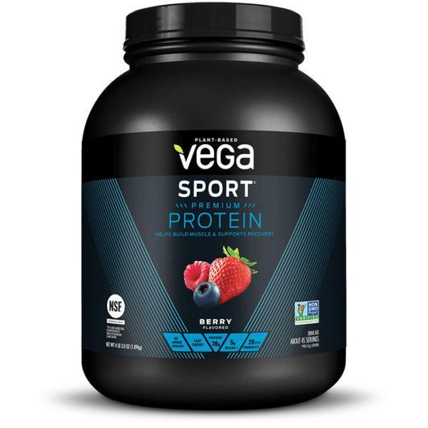 Vega Sport Premium Protein | 1890g | Berry | Vegan Protein Powder | Complete Plant Based Vegan Friendly Protein Shake
