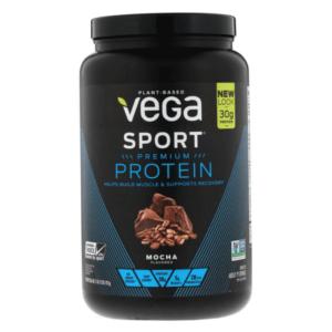 Vega Sport Premium Protein | 1890g | Mocha | Vegan Protein Powder | Complete Plant Based Vegan Friendly Protein Shake
