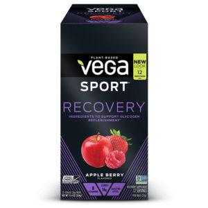 Vega Sport Recovery | 12 Sachets | Apple Berry | Vegan Carbohydrate Supplement | Carbohydrate Supplements | Helps To Replenish Muscle Glycogen Levels