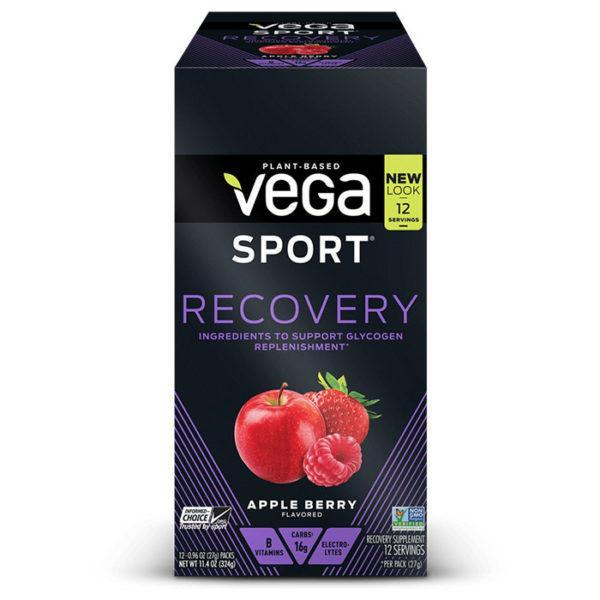 Vega Sport Recovery | 20 Servings | Apple Berry | Vegan Carbohydrate Supplement | Carbohydrate Supplements | Helps To Replenish Muscle Glycogen Levels