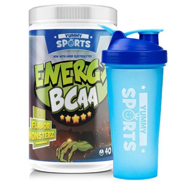 Yummy Sports Energy BCAA Intra-Workout | 40 Servings | Bullz | BCAA & Essential Amino Acids | Great Tasting Branched Chain Amino Acids With Added