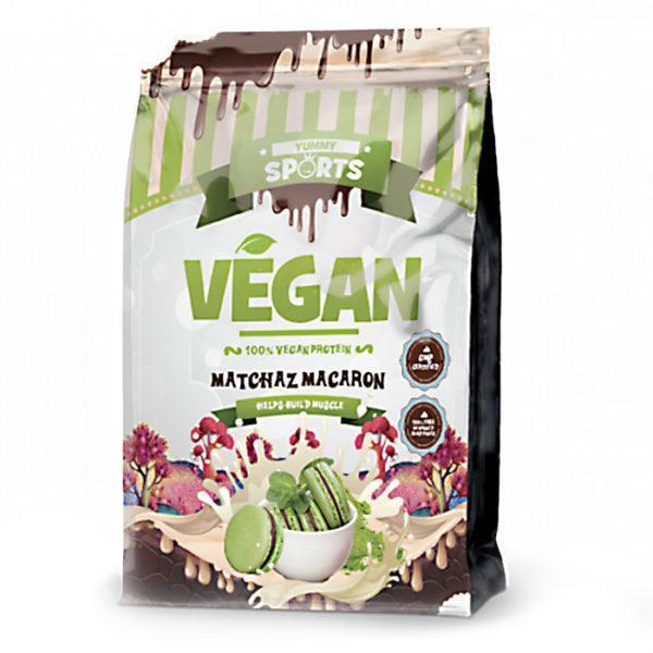 Yummy Sports Vegan Protein Powder | 33 Servings | Matchaz Macaron | High Quality Vegan Protein Blend