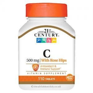 21st Century Vitamin C with Rose Hips (500mg, 110 Tablets)