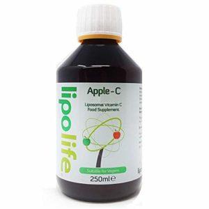 Liposomal Vitamin C, Apple-C 250ml - Lipolife - Help Support a Healthy Immune System