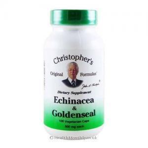 Dr Christopher's Original Formulas Echinacea & Goldenseal (500mg, 100 Vegetarian Capsules)