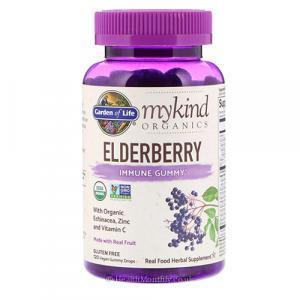 Garden of Life MyKind Organics Elderberry Immune Gummy (120 Vegan Gummy Drops)