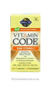 Garden of Life Vitamin Code Raw Vitamin C (120 Vegetarian Capsules)