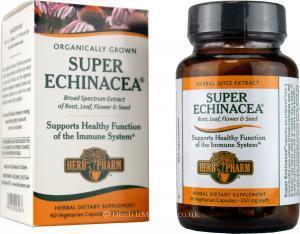 Herb Pharm Organic Super Echinacea (350mg, 60 Vegetarian Capsules)