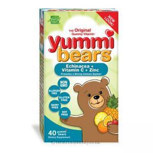 Hero Nutritionals Yummi Bears Echinacea + Vitamin C + Zinc (40 Gummies)