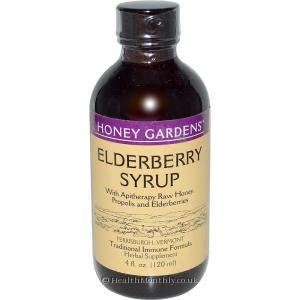 Honey Gardens Elderberry Syrup (with Apitherapy Raw Honey, Propolis and Elderberries, 120ml)