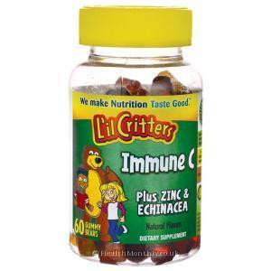L'il Critters Immune C Plus Zinc & Echinacea (60 Gummies)
