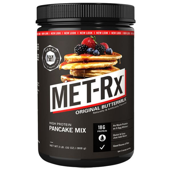 MET-Rx Protein Plus Pancake Mix | 2lb | Protein Desserts & Cooking Mixes | 12g Protein - Twice As Much As Traditional Pancakes