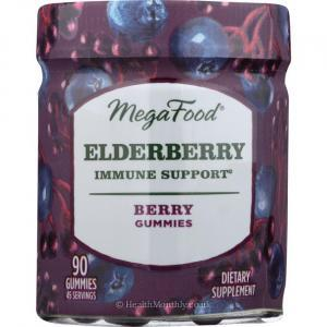 MegaFood Elderberry Immune Support (Berry, 90 Gummies)