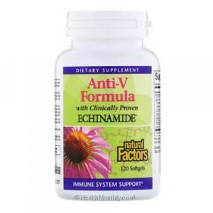 Natural Factors Anti-V Formula with Clinically Proven Echinamide (120 Softgels)