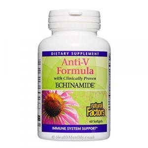 Natural Factors Anti-V Formula with Clinically Proven Echinamide (60 Softgels)