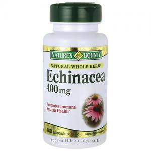Nature's Bounty Natural Whole Herb Echinacea (400mg, 100 Capsules)