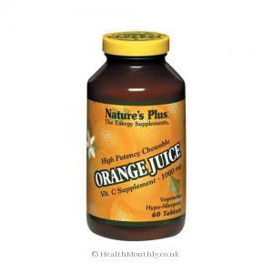 Nature's Plus Orange Juice Chewable Vitamin C (60 Tablets)
