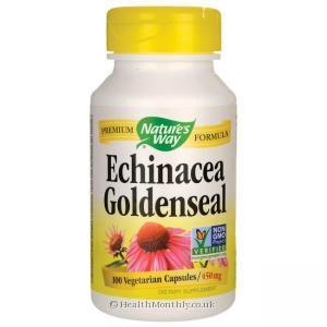 Nature's Way Echinacea Goldenseal (100 Vegetarian Capsules)